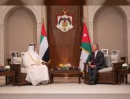 Mohamed bin Zayed, King Abdullah ll of Jordan discuss enhancing r ..