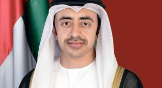 UAE alarmed by escalating spiral of violence in Israel and Palestine: Abdullah bin Zayed