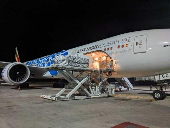 Emirates Airlines launches India humanitarian airbridge to transport urgent COVID-19 relief items