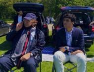 Nawaz Sharif enjoys grandson Junaid Safdar's polo match