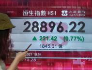 Hong Kong shares down at close