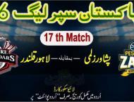 Today PSL Match 17 Lahore Qalandars Vs. Peshawar Zalmi 10 June 20 ..