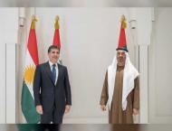 Mohamed bin Zayed receives President of Iraq's Kurdistan Reg ..