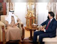 Nahyan bin Mubarak discusses cooperation with Iraq Kurdistan offi ..