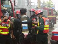 Rescue 1122 extinguished fire erupted in closed factory