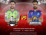 Karachi Kings and Lahore Qalandars will face off in Abu Dhabi tod ..