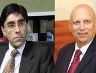 Moeed Yusuf calls on Governor Punjab Chaudhry Mohammad Sarwar