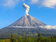 Indonesia's volcano Merapi emits hot clouds