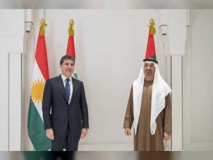 Mohamed bin Zayed receives President of Iraq's Kurdistan Region