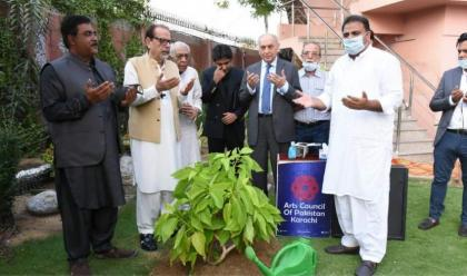 Federal Minister for Information and Broadcasting Fawad Chaudhry visits Arts Council of Pakistan Karachi