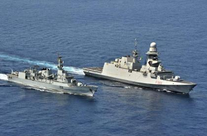 PNS SAIF participates in passade drill with Italian Navy Ship CARABINIERE in Gulf of Aden