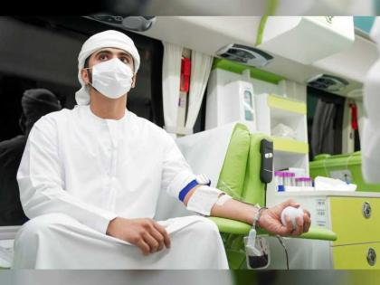 Mansoor bin Mohammed first donor for 'My Blood for My Country' campaign