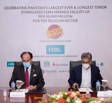 Jazz secures Telecom sector's largest credit facility, fully subscribed by HBL, to support 4G network rollout