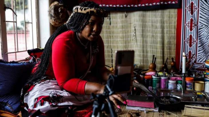 Ancient traditional healing rituals go digital in virus-hit S.Africa