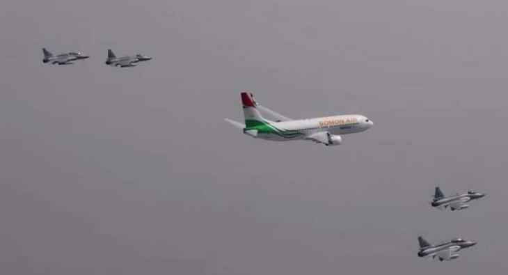 PAF' No. 18 Squadron presents ceremonial escort to Tajik President