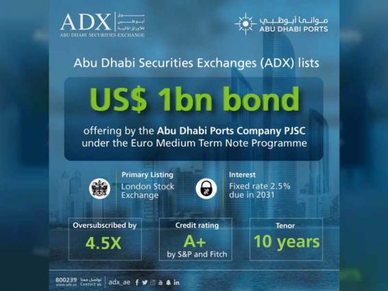 ADX lists US$1 billion bonds issued by Abu Dhabi Ports