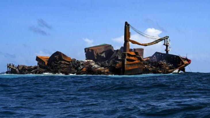 Sri Lanka sued over ship disaster as possible oil spill looms