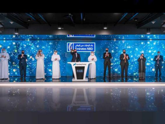 Emirates NBD rings Nasdaq Dubai's market-opening bell to celebrate US$ 750 million bond listing