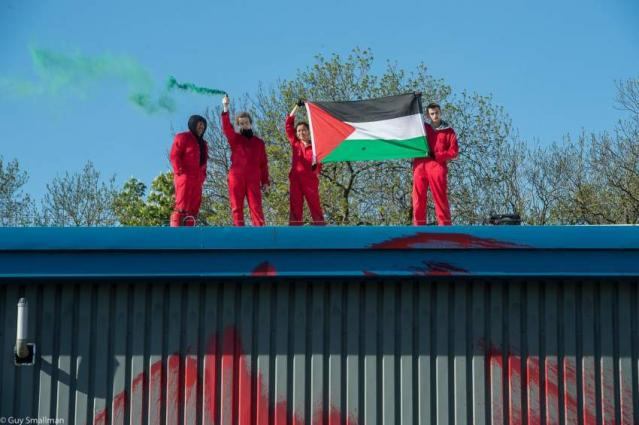 Pro-Palestinian Activists in UK Target Factory Supplying Technology to Israeli Arms Giant