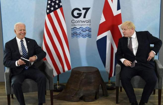 Biden Meets With UK Prime Minister Ahead of G7 Summit, Putin Meeting