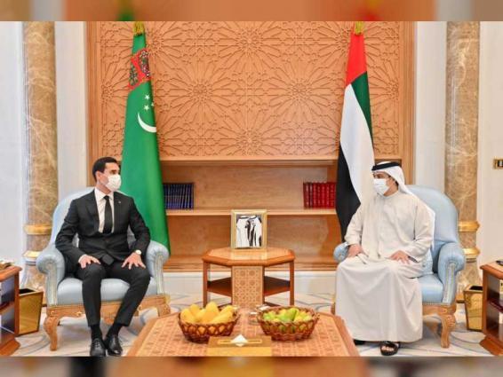 Mansour bin Zayed, Deputy Prime Minister of Turkmenistan, discuss bilateral relations