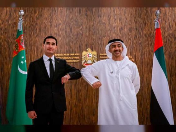 Abdullah bin Zayed,  Deputy Prime Minister of Turkmenistan review bilateral relations