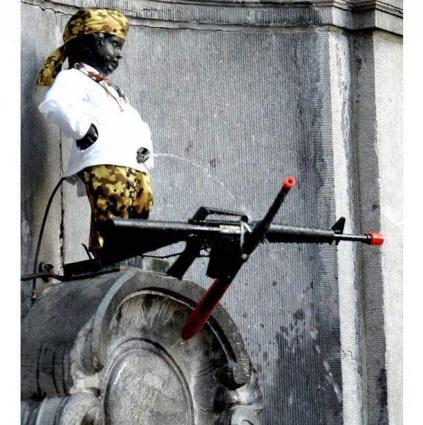 Brussels Dresses Manneken Pis in Russian Imperial Uniform on Russia Day