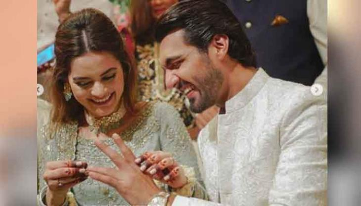 Aiman Khan wishes 'heartiest' congratulations to Minal Khan and Mohsin Ikram