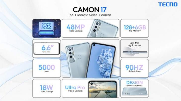 TECNO puts all competitors to dust with the exceptional features of Camon 17