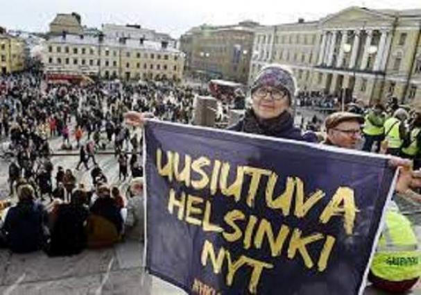 Traffic in Downtown Helsinki Partially Disrupted Over Climate Activists' Rally - Police