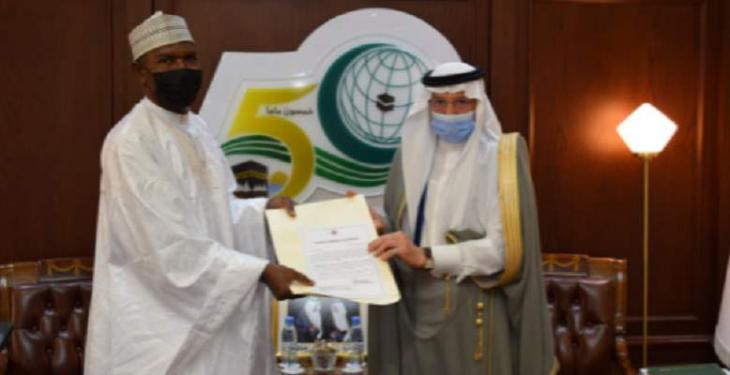 Al-Othaimeen Receives the Credentials of Nigeria's Permanent Representative to the OIC