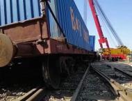 Freight train derailed near Jamshoro Kotri Station