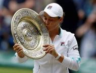 Barty wins first Wimbledon title on Cawley anniversary