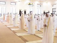 UAQ Ruler performs Eid Al Adha prayer at Sheikh Ahmed bin Rashid  ..