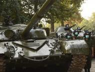 Russian Tanks in Tajikistan Move to Training Ground on Border Wit ..