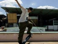'Hooked': Blind Japanese skateboarder going by feel