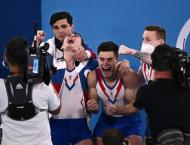 Nagornyy's Russian 'typhoon' storms to gymnastics team gold