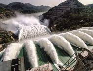 Tarbaila dam auxiliary spillways opened to discharge extra water ..