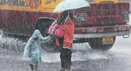 City receives heavy downpour