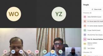 UVAS, Punjab Health Department jointly organized a virtual awareness seminar on Congo Fever