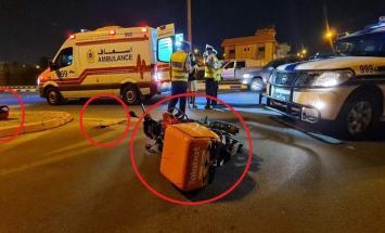 اصابة شاب آسیوي اثر حادث مروري فی مملکة ..