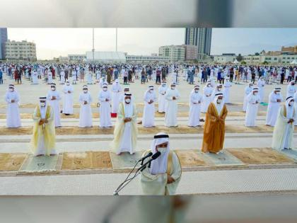 RAK Ruler performs Eid prayer at Grand Eid Musalla