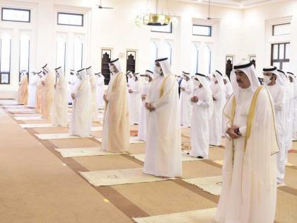 UAQ Ruler performs Eid Al Adha prayer at Sheikh Ahmed bin Rashid Al Mu'alla Mosque