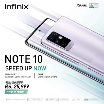 Youth's most favored smartphone Infinix NOTE 10 is now available in offline market