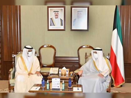 Kuwaiti Minister of Foreign Affairs receives FNC delegation
