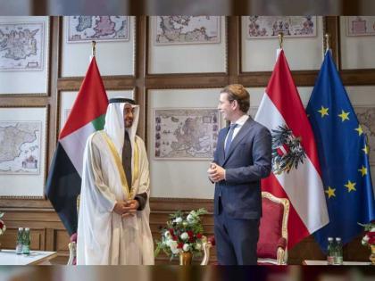 محمد بن زايد ومستشار النمسا يبحثان في فيينا علاقات البلدين والقضايا الإقليمية
