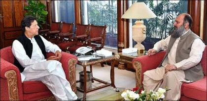 Prime Minister , Jam Kamal discuss matters relating to Balochistan development projects