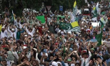 Walk held to mark Kashmir seige day