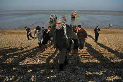 Surge in migrants jolts residents on England's Channel coast