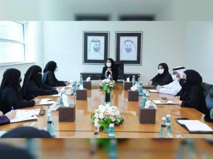 Hessa Buhumaid views preparations of Emirates Down Syndrome Association for WDSC Dubai 2021
